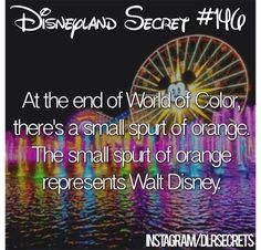In honor of Walt Disney