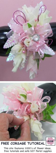 How to Make a Corsage - Free Flower Instructions  Learn how to make bridal bouquets, corsages, boutonnieres, reception table centerpieces and church decorations. Buy wholesale fresh flowers and discount florist supplies.