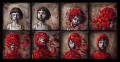 çizgili masallar: Little Red by Beatriz Martin Vidal