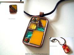 CIJ Sale Mosaic Jewelry Set 2 Pendants and by earthmothermosaics, $45.50