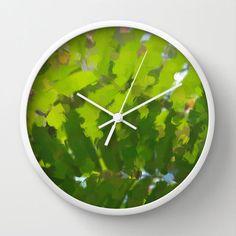 Art Print Wall Clock with Original Abstract by AmandaJaneDalby