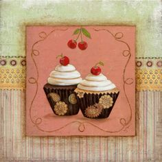 Cupcake Delight II Impressão artística