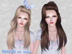Emma's Simposium: Free Hair Pack #183 By Skysims - Donated/Gifted To...
