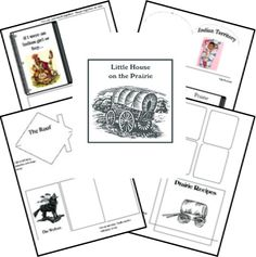 Homeschool Share Network has a great (free!) printable up for a #LHOTP lap book! Little House on the Prairie learning resources from @HomeschoolShare