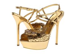 Sergio Rossi Sandal Ciad/New Gold - Zappos.com Free Shipping BOTH Ways