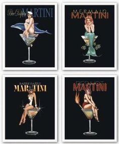 Amazon.com: Martini Set by Ralph Burch 8x10 Art Print Poster: Home & Kitchen