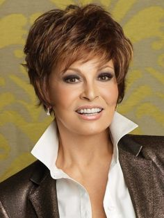 Sparkle by Raquel Welch Wigs - Short Hair Styles Formal Hairstyles For Short Hair, Shaggy Short Hair, Mom Hairstyles, Short Hair Styles, Shaggy Hairstyles, Layered Hairstyles, Hairstyle Hacks, Short Pixie, Curly Pixie