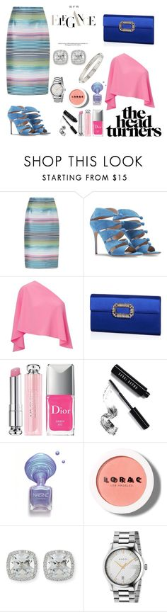 """""""Summer Elegance"""" by rivers-jacqui on Polyvore featuring ESCADA, Gianvito Rossi, Roland Mouret, Roger Vivier, Christian Dior, Bobbi Brown Cosmetics, LORAC, Frederic Sage, Gucci and Cartier"""