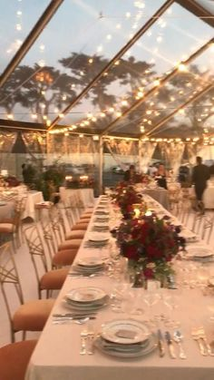 Magical Wedding, Tent Wedding, Wedding Venues, Dream Wedding, Summer Wedding, Gypsy Wedding, Outdoor Fall Wedding Reception, Long Wedding Tables, Wedding Tent Lighting