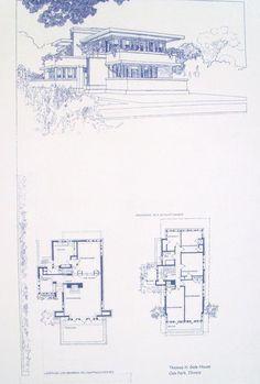 Frank Lloyd Wright Gale House Blueprint