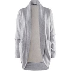 H&M Cardigan (£12) ❤ liked on Polyvore featuring tops, cardigans, outerwear, jackets, sweaters, women, long cotton cardigan, cardigan top, pocket cardigan and h&m tops