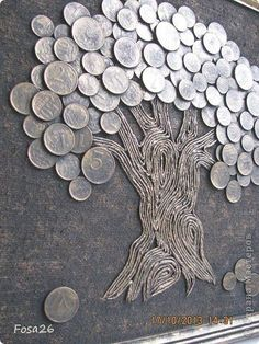Coin Crafts, DIY World Coins Foreign Coins, Coin Art - money and coins Diy Crafts Hacks, Diy Home Crafts, Diy Arts And Crafts, Coin Crafts, Metal Art Projects, Diy Projects, Coin Art, Indian Art Paintings, Deco Originale