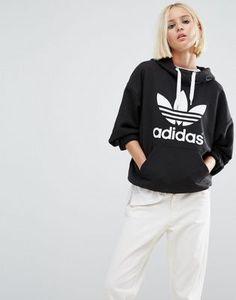 ADIDAS ORIGINALS – KAPUZENPULLOVER MIT TREFOIL-LOGO #style #fashion #design #trend #onlineshop #shoptagr