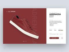 Shoe / sneaker shopping — design & animation concept on Behance