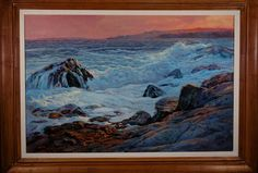My World of Watercolors and Oils: This 24x36 oils was inspired from a trip to Acadia...