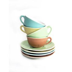4 French Cups of Coffee Espresso Set with by LaBelleEpoqueDeco