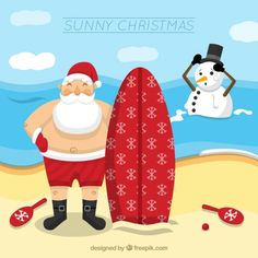 Sunny christmas background Free Vector