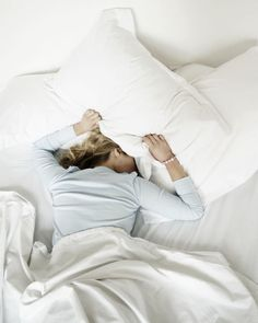 "The only thing more annoying than a snoring bedmate? Unpredictable noise from the street or a neighbor. Luckily, a white noise machine can help drown out both. ""White noise does not have a repeating frequency, so you can't get tuned into it as you can with music,"" says Dr. Joyce Walsleben, adjunct professor at NYU School of Medicine. If you have noise from adjoining walls (read: loud neighbors), add big cushions and a plush area rug to help muffle the sounds."