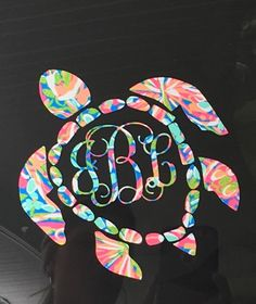 A personal favorite from my Etsy shop https://www.etsy.com/listing/450107270/car-decalsea-turtle-monogram-decals-yeti