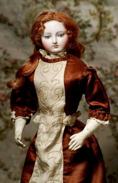 Lot: GORGEOUS & RARE FRENCH BISQUE POUPEE ATTRIBUTED TO, Lot Number: 0064, Starting Bid: $2,000, Auctioneer: Frasher's Doll Auction, Auction: Fashion Parade, Date: October 30th, 2016 CDT