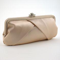 Franchi Silk Clutch | Judith Champagne Silk Clutch, Wedding, Evening