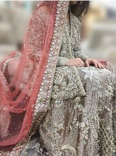 Wedding Lehenga for Indian Bride. Asian Wedding Dress, Pakistani Wedding Outfits, Pakistani Wedding Dresses, Bridal Outfits, Indian Dresses, Indian Outfits, Saris, Walima Dress, Bridal Dress Design