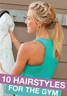 Check out these chic hairstyles to wear while you're at the gym...