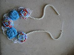 The Woman Who Couldn't Sit Still: Fabric Flower Necklace Tutorial