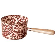 Enamelware Sauce Pan/ Gravy Server - Burgundy/Cream Marble ** You can find more details by visiting the image link.