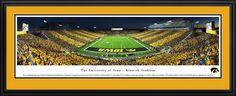 Iowa Hawkeyes Black & Gold Game Framed Panoramic Print - Choose Option