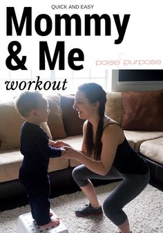 This Mommy and Me workout from Poise and Purpose looks like so much fun!