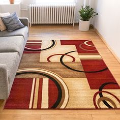"""Casbah Brown Moroccan Lattice Vintage Modern Casual Traditional Trellis 3x5 ( 3'3"""" x 4'7"""" ) Area Rug Thick Soft Plush Shed Free"""