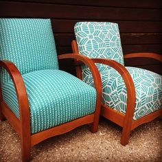 Love the arms on these armchairs. Mid-Century at its best. #queenstownupholstery #arrowtownnz #arrowtownupholstery #lilyandvine #midcentury #queenstownshopping Living Room Upholstery, Upholstery Cushions, Furniture Upholstery, Midcentury Upholstery Fabric, Chair Cushions, Paint Upholstery, Swivel Chair, Funky Chairs, Upholstery Repair