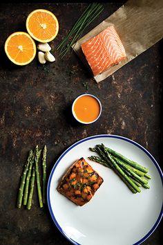 Recipe: Orange Barbecue-Glazed Salmon with Asparagus