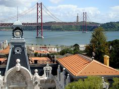 Lisbon, Portugal - Vasco da Gama Bridge along the Tagus River Places To Travel, Places To Go, Sea Activities, Visit Portugal, Sunny Beach, Palace Hotel, Most Beautiful Cities, Portuguese, Bridges