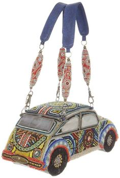 car-shaped purse by Mary Frances Unique Handbags, Unique Purses, Unique Bags, Purses And Handbags, Mary Frances Purses, Mary Frances Handbags, Beaded Purses, Beaded Bags, Vintage Purses