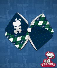 Peanuts - Snoopy Argyle Cut-Out - Green/Navy Quad