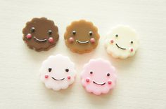 5 pcs Smiley Cookie Cabochon (24mm) CD439 on Etsy, £1.82
