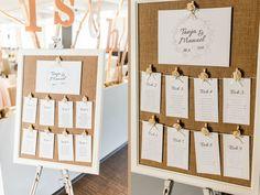Hochzeitsdeko - Tischplan Sitzplan Hochzeit mit Rahmen - ein Designerstück von Dekoelement bei DaWanda