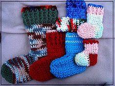 Easy crochet sock pattern newborn to adult