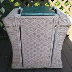 I believe it is from the It as been thoroughly washed, inside & out and left out in the sun to dry. Bench With Storage, Storage Baskets, Modern Hampers, Wicker Hamper, Bamboo Shelf, Clothes Basket, Entryway Organization, Shoe Organizer, Laundry Hamper