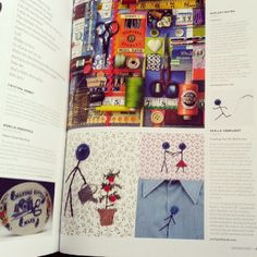 Mr.Buttonman was featured in Uppercase Magazine in January 2014! This was very exciting.