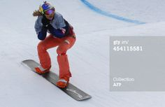Czech Republic's Eva Samkova competes in the women's snowboard cross run as part of the FIS Snowboard World Cup season opening, in Schruns Montafon, Austria on December 7, 2013. AFP PHOTO / PIERRE TEYSSOT (Photo credit should read PIERRE TEYSSOT/AFP/Getty Images)