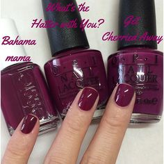 """essie """"Bahama Mama"""" & OPI """"What's the Hatter with You?"""" & """"Get Cherried…"""