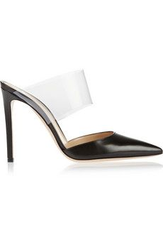 Gianvito Rossi Leather and PVC pumps | NET-A-PORTER Love these so much…  The Secret Ingredient™... LEFAtlanta.com