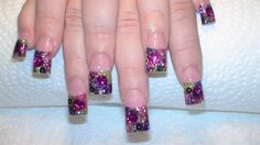 Purple and Fucshia Rocksatr by GrlDuzNailz - Nail Art Gallery nailartgallery.nailsmag.com by Nails Magazine www.nailsmag.com #nailart