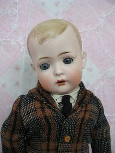 Very Sweet Bruno Schmidt Antique Doll Circa 1915 Mold Number 2096 from dollsandlace on Ruby Lane