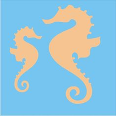 "Stencils Mommy and Baby Seahorses Stencil /Mama 6"" Tall x 3.5""Wide  Baby 4""Tall x 2"" Wide Pillows Beach Signs"