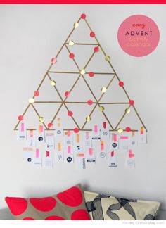 Easy advent calendar tutorial   printable number tags | http://www.theredthreadblog.com