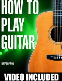 How to Play Guitar | http://paperloveanddreams.com/book/723890518/how-to-play-guitar | Learn how to play guitar with a series of beginner lessons by Peter Vogl.  Covering everything from tuning, string names, and reading tabs up through strumming and playing chords. The included videos explain each concept in detail.